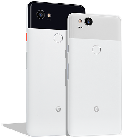 Pixel 2 in two sizes