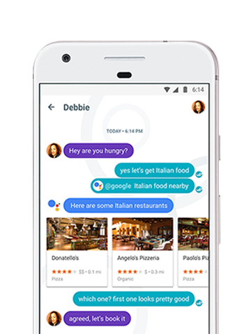 Messaging with Google Allo