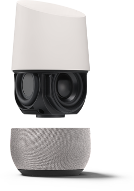 Exploded View Google Home showing Speakers