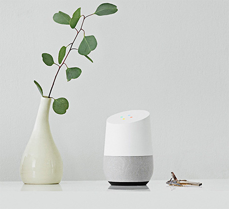 Google Home on Table Managing Tasks